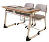 대중적인 인도 Wooden School Furniture Double School Student Desk 및 Chair