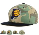 casquillo del sombrero del Snapback de la corona del camuflaje del algodón del bordado 3D con insignia modificada para requisitos particulares OEM