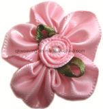 Curva Handmade da fita da flor da fita do cetim com decoração