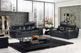 Живущий софа кожи мебели комнаты для домашней софы