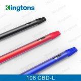 Сигарета 108 Cbd-L Cbd Vaproizer Cig Kingtons e устранимая электронная
