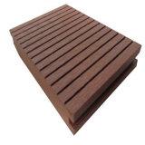 Decking imperméable à l'eau extérieur du plancher composé en plastique en bois WPC