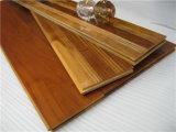 Impermeable teca de Birmania empalme del piso de madera real