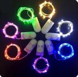 2m 20 LEDs Cr2032 단추 건전지에 의하여 운영하는 LED 끈 빛