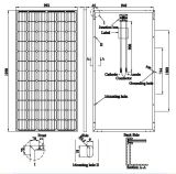Alta qualità Mono Solar Panel 320W Transparent Tpt (AE320M6-72)