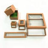 Изготовленный на заказ ювелирные изделия окна PVC/коробка кольца/ожерелья/браслета/подарка серег бумажная
