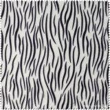 Tela de tela de Patter de color blanco y negro (CF019120E)
