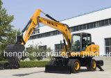 Excavadora de Ruedas hidráulicas Hengte HT155W con 0,6-0.7cucharón cbm