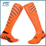 Bas en caoutchouc de bloc de sport du football de chaussettes de longues chaussettes antidérapage du football