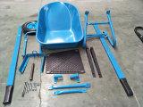Carrinho de mão de roda galvanizado para a construção