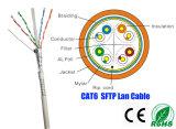Câble approuvé d'UL/CE/RoHS/ISO SFTP CAT6