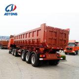 반 중국 제조 U 유형 3 차축 덤프 또는 기울이거나 쓰레기꾼 트레일러