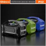 Spreker Koraoke Draadloze Bluetooth van de Stijl van Shinco de Nieuwe Draagbare Mini met LEIDEN Licht