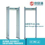 Detector de metales infrarrojo de interior del marco de puerta de las zonas del diseño 18 de la seguridad 3D