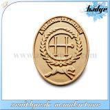 Diseño personalizado de cobre metálico Tim insignia Oval con imán
