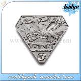 正方形の形の金属のアウトリーチの国際的な創設者のバッジ
