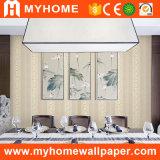 Papier peint imperméable à l'eau de PVC de projet de conception intérieure