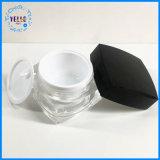 Creme de plástico contentor 1oz jarra de cosméticos de luxo de acrílico