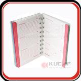 Espiral impresos personalizados de alta calidad planificador diario páginas interiores