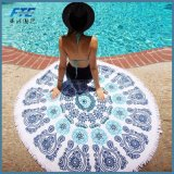 Floreale dei tovaglioli di spiaggia di estate stampato intorno alla casa generale della stuoia di yoga