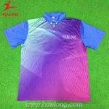 Engrenagem de vestuário desportivo coloridos Healong Sublimação camisas polo masculino para venda