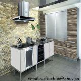 Pequena cozinha moderna e simples conjunto de gabinete