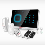 Wireless Home Security GSM com sistema de alarme de intrusão APP controlando