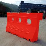 Rote Rotationswassergefüllte Sperren-Datenbahn-Plastiksperre