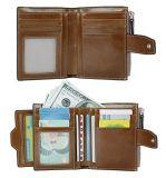 형식 가죽 지갑 숙녀 ID Windows (WDL01086)를 가진 소형 지갑 클러치 지갑 카드 홀더