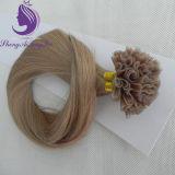 100% de extensão de cabelo humano Remy Real