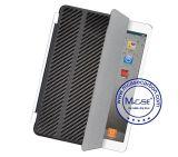 Apple iPad 2를 위한 최신 기우는 제품 탄소 섬유 지능적인 뒤 상자 덮개 3 4