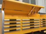 El polvo de 33 de los cajones cabinas de herramienta cubrió con las ruedas