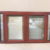 De klant Gemaakte Houten Openslaand ramen van het Aluminium voor Caraïbische Klant