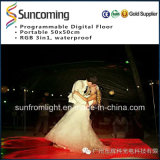 Portable video Dance Floor de la boda LED Dance Floor P62.5 California