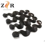 7A等級のインドのバージンのRemyの巻き毛の人間の毛髪のよこ糸Dyeable
