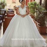 Arabische Luxuxhochzeits-Kleid-Schutzkappe Sleeves die Spitze, die Brautkleider G1721 bördelt