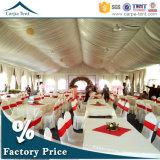 20mx30m Bonitas e luxuosas lonas brancas Casinhas de casamento grandes com tendas de seda em Cantão