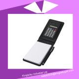 Het MiniNotitieboekje van Pu met calculator en van de Naald Pen in de Doos P016A-006 van de Gift