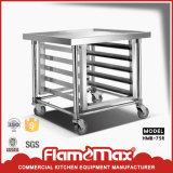 Banco móvel prático do aço inoxidável com cremalheira inferior (HMB-75R)