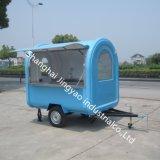 販売のための三輪の食糧ウォーマー車か速い朝食用食品のカートの移動式台所トレーラーまたはコーヒーハンバーガーのカート