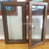 프랑스 유형 목제 입히는 알루미늄 여닫이 창 경사 회전 Windows