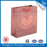 Coeur Imprimé Brown Kraft Paper Shopping Bag