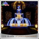Indicatore luminoso bianco della decorazione di natale dell'indicatore luminoso della fontana di motivo di colore 3D