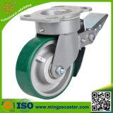 Hochleistungs-PU 6inch auf Eisen-Kern-Rad-Hand-LKW-Fußrolle
