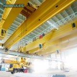 Manejo de acero magnético puente grúa