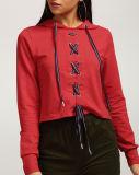 2017 modèles rouges neufs de vente en gros de Hoodies de filles noués par Rexy
