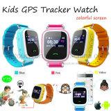 Tela colorida filhos/Criança Rastreador GPS portátil assista com podômetro Y7s