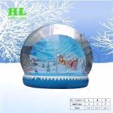 屋外および屋内娯楽作業のために雪の球の膨脹可能なテントを広告すること