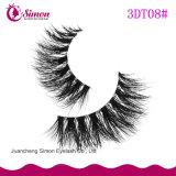 De valse 3D Wimper van de Schoonheidsmiddelen van het Haar van de Mink van Zwepen Natuurlijke Valse