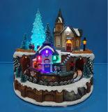 """Décoration de Noël 13 LED """" magasin de jouets avec le train en mouvement et Carrousel et huit chansons de la musique"""